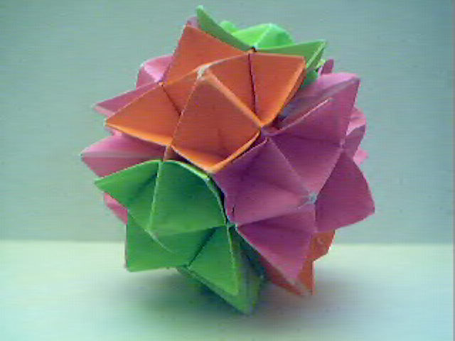 How to Make an Origami Star Ball - YouTube | 480x640
